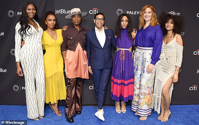 Wow: The series landed 11 Emmy nominations in total, with Billy Porter (center left) winning one for his role as Pray Tell in 2019 (pictured with cast and co-creator Steven Canals)