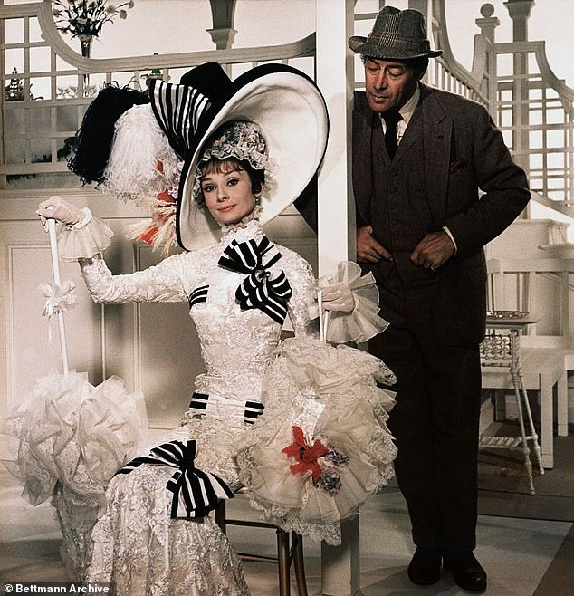 During the My Fair Lady conversation, the hosts will discuss Henry Higgins' (right, played by Rex Harrison) physical and psychological abuse of Eliza Dolittle (left, played by Audrey Hepburn)