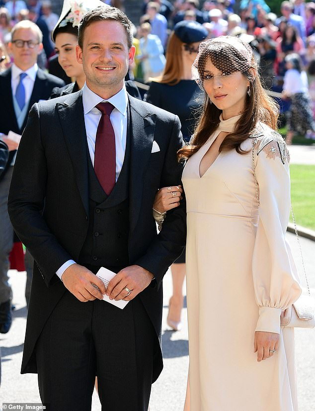 Patrick likely met several senior members of the royal family while attending Meghan's wedding to Harry in 2018. He is pictured at the event with his wife, actress Troian Bellisario