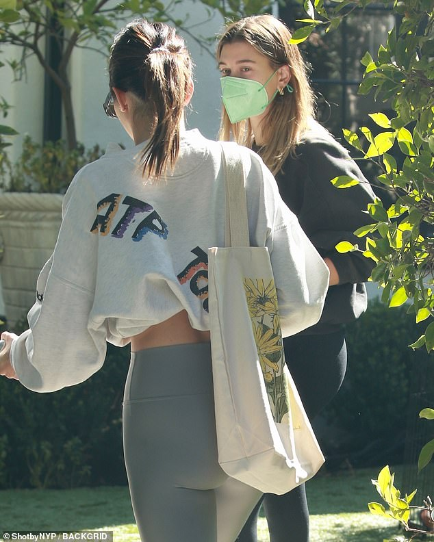 BFFs: Kendall joined 24-year-old Hailey in private class