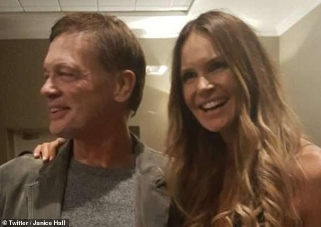 Andrew Wakefield pictured with Macpherson. The supermodel, 56, has not been seen in public with the disgraced former GP, 64, since last October