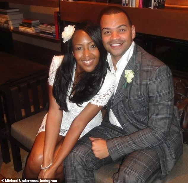 Happily married: Michael, who has been married to Angellica Bell for more than 10 years after tying the knot in New York, where they got engaged (pictured on their wedding day)