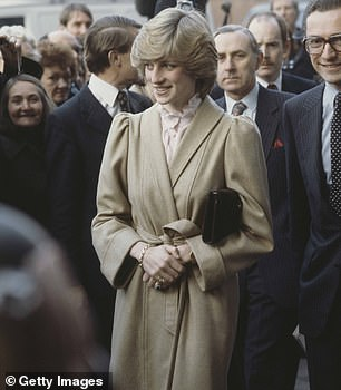 Gorgeous: The late Princess of Wales in Wandsworth in 1982