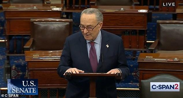 """We tell the American people, help is on the way,"" said Senate Majority Leader Chuck Schumer, D-N.Y"