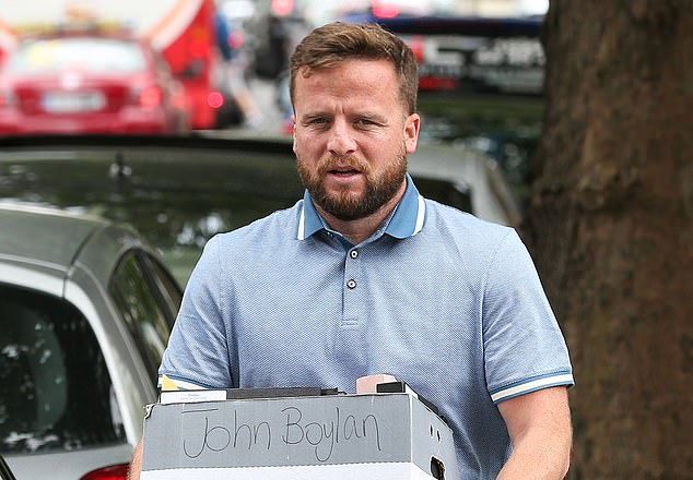 Sources allege the cartel released the image of Elliott sat on the body of seven-year-old gelding Morgan while chatting on his mobile phone in revenge for his refusal to work with John Boylan, pictured, a notorious criminal