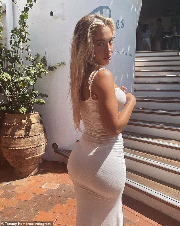 Busy!  Tammy Hembrow's ex-fiance (pictured), Reece Hawkins, welcomed a son with his model wife, London Goheen on Sunday.  But it seems the Instagram superstar didn't care too much about the news as she was too busy curating her collection of designer handbags.