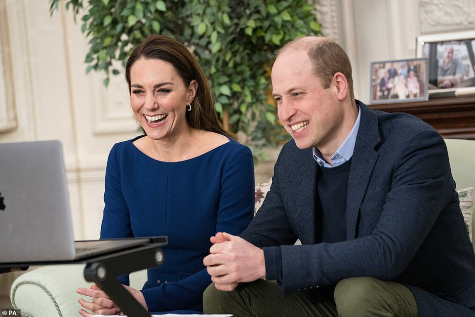Duke and Duchess of Cambridge during there virtual engagement in the Commonwealth Day programme on Sunday