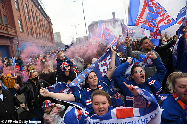 The Scottish Government previously condemned fans for gathering outside the stadium