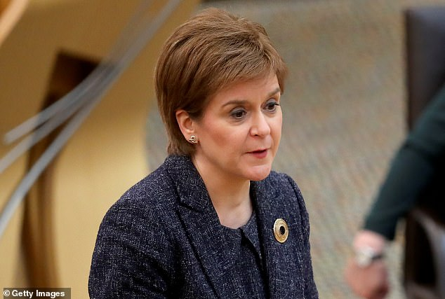 First Minister Nicola Sturgeon asked fans to remember social distancing rules in a tweet sent Sunday