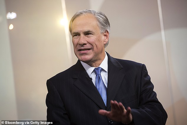 This comes after Governor Abbott (pictured) announced Tuesday he was lifting all COVID-19 restrictions including the mask mandate on March 10 in the Lone Star State where more than 45,000 residents have so far died from the virus