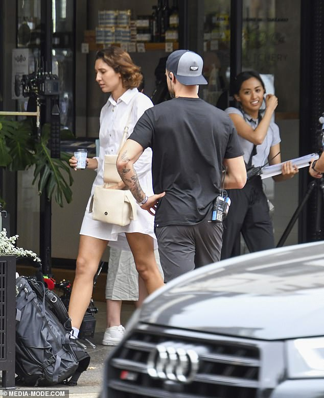 Cute:The filming session marks the first time Vanessa, 25, and Dylan, 29, have ever been photographed together, after the younger Efron was only recently released from a mandatory 14-day quarantine after jetting in from the US