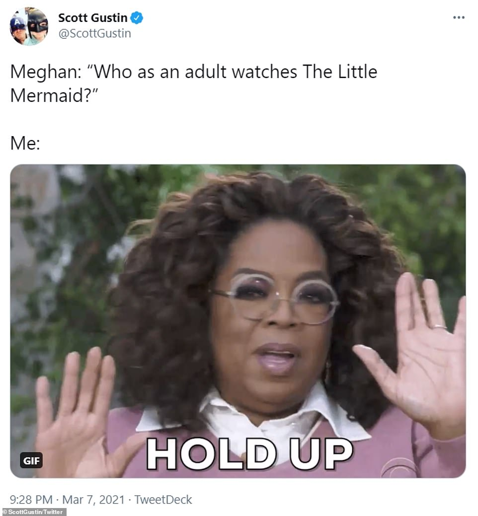 Several people hit back at the duchess's suggestion that adults do not watch The Little Mermaid