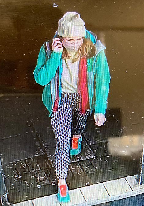 Police released this CCTV image of Sarah Everard