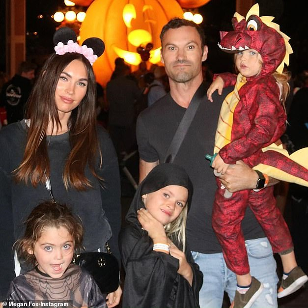 Exes: In May 20120, Fox filed for divorce from actor husband Brian Austin Green with whom she shares three young sons, Noah, eight, Bodhi, seven, and Journey, four.