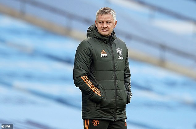 Solskjaer looked on as his Man United side put in one of their best performances of the season