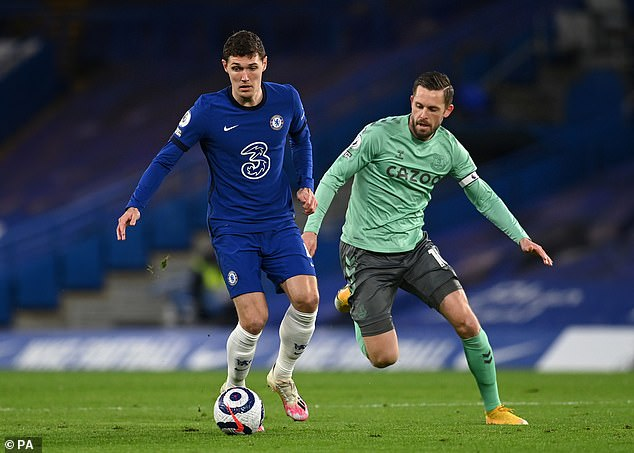 Andreas Christensen (left) has gone from forgotten man to permanent fixture for Chelsea