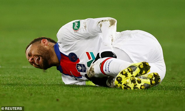 Neymar suffered an adductor injury six days before the first leg victory at Camp Nou