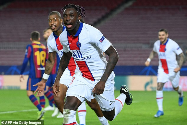 PSG will also be without Moise Kean, who scored in the first leg, after testing positive for Covid