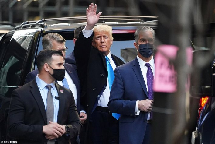 Trump had not been seen since he entered the building on Sunday night, less than 48 hours ago
