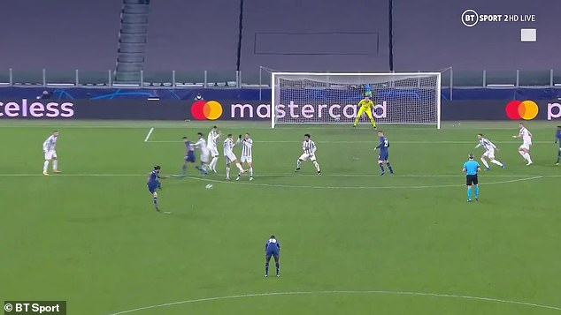 Ronaldo turned his back in the wall asSergio Oliveira scored a low free-kick in extra time