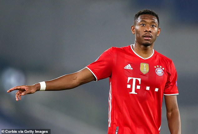 David Alaba's agent has denied reports claiming the defender has agreed to join Barcelona