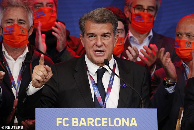 New president Joan Laporta is believed to have a 'verbal agreement' with Alaba's representatives, something he has since played down since he was re-elected on Sunday