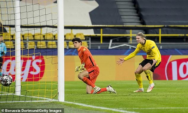 Erling Haaland headed to taunt goalkeeper Bono as soon as he scored the retaken penalty