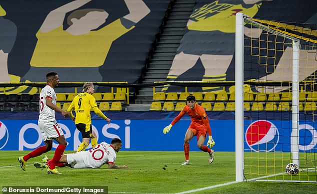 Haaland had earlier managed to break the deadlock and Dortmund progressed 5-4 overall