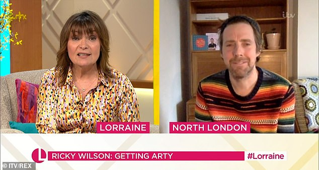 Amazing:Ricky was on the ITV chat show to talk about his new children's art series, Art Jam, after he was inspired during his stint on Celebrity Supply Teacher