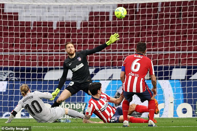 Muniain opened the scoring in the league clash at theWanda Metropolitano on Wednesday