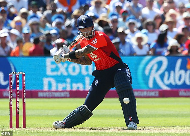 Eoin Morgan poured cold water on Alex Hales's chances of returning to England's T20 squad