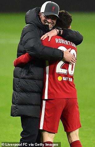 Klopp was delighted at he embraced his players at full-time