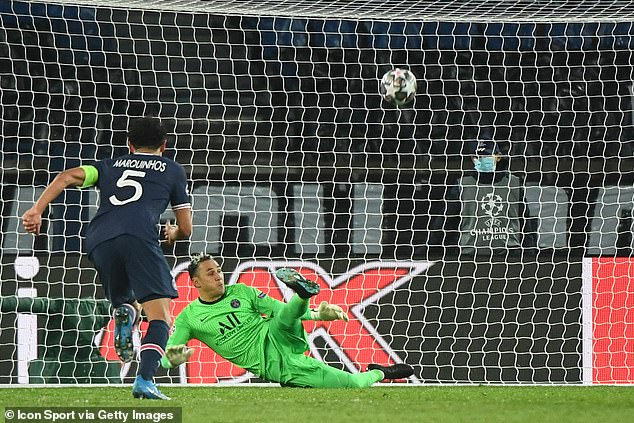 PSG goalkeeper Keylor Navas saved a Messi penalty as Barcelona lost 5-2 on aggregate