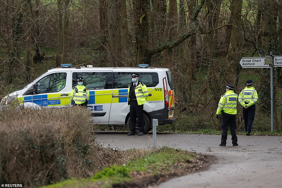 Officers made the horrifying discovery at the disused Great Chart Golf & Leisure Country Club near Ashford