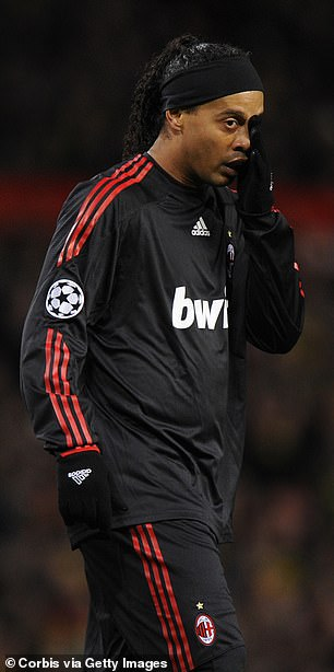 The great Ronaldinho could do little to stop United from running riot against Milan in 2010