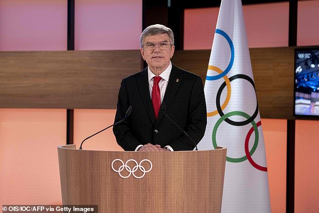 IOC president Thomas Bach confirmed the news at the Olympic body's virtual session