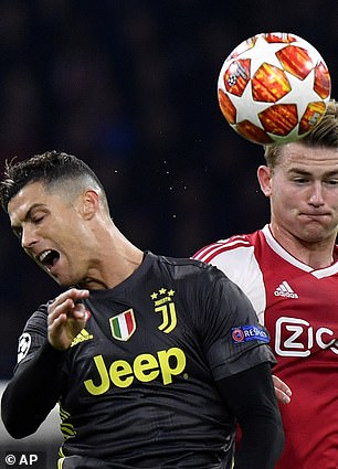 In his first Juve season Ronaldo went out to Ajax