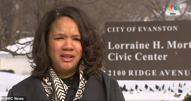 Chicago's suburb, Evanston, could become the first in the country to fund reparations for its black residents with a pledge of $10million over 10 years after Robin Simmons (pictured) proposed the legislation