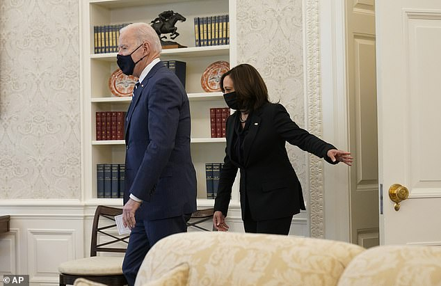 President Biden was joined by Vice President Kamala Harris for the signing the American Rescue Plan into law