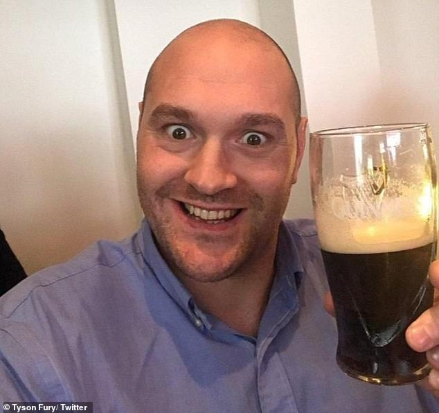 Heavyweight champion Fury claimed he is on holiday and drinking up to 12 pints a day