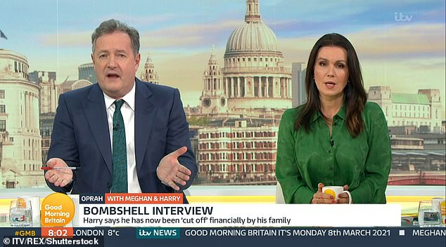 Piers resigned from the daytime show after an on-air row with colleague Alex Beresford who criticised him for 'continuing to trash' the Duchess of Sussex