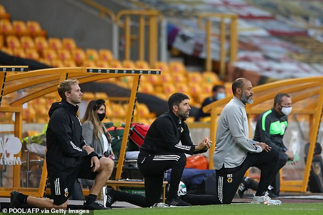 Wolves boss Nuno Espirito Santo pleaded that it is unrealistic to see an immediate impact from the gesture as he encouraged players to continue to unify and take a knee before matches