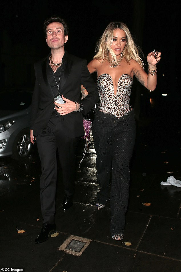 Night on the town: The musician credited her new decision for enabling her to 'sing better' (pictured at an afterparty with close pal Nick Grimshaw in 2019)