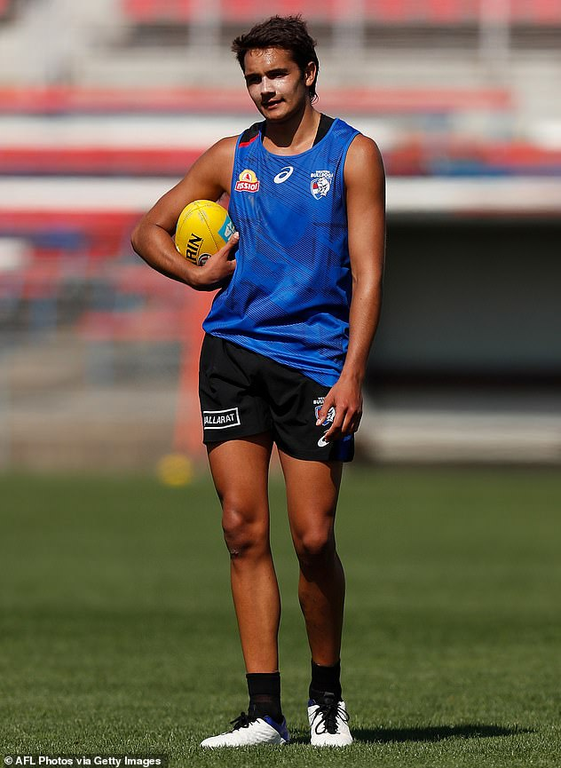 Rising star:Jamarra is the Western Bulldogs' number one draft pick andhas been dubbed 'Buddy Franklin 2.0'
