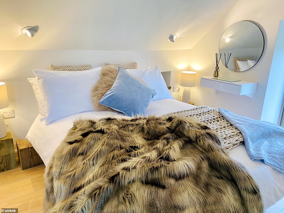 'A romantic field barn with a chic contemporary twist,' says the listing. It adds: 'Situated in a stunning private setting 1,000ft above sea level and overlooking the Manifold Valley, Little Barn offers peace and tranquillity along with modern amenities.' This one-bedroom barn for two costs £100 a night