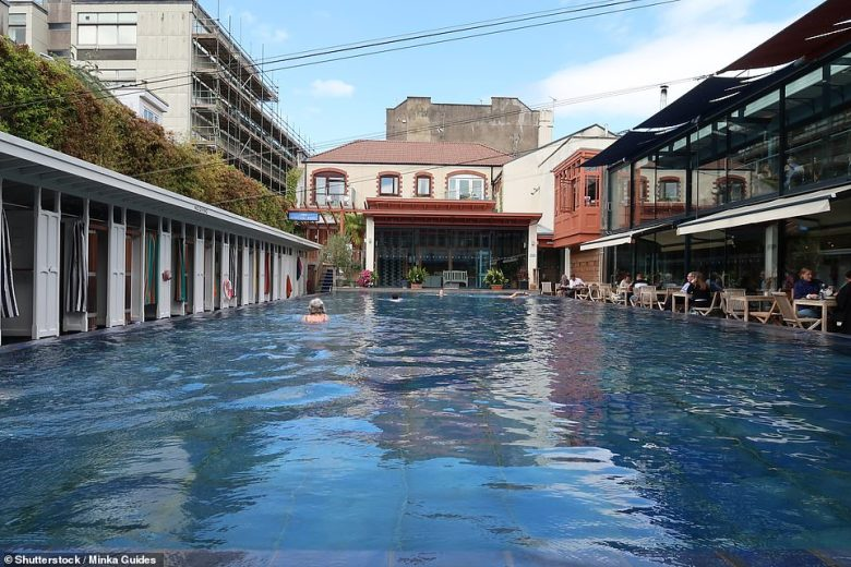 Bristol Lido, pictured, first opened in 1850 and in the 1930s became the firstin the country to be heated by electricity