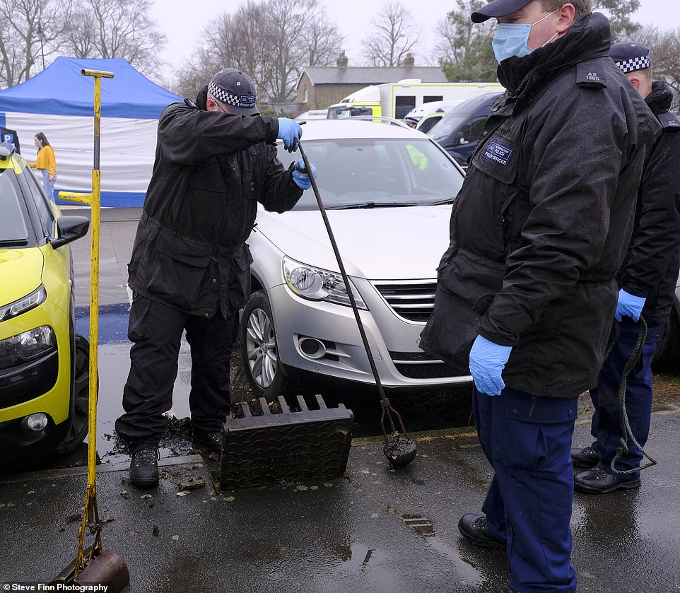 Police on Tuesday switched attention to the network of drains underneath Sandwich, Kent, in the second day of searches