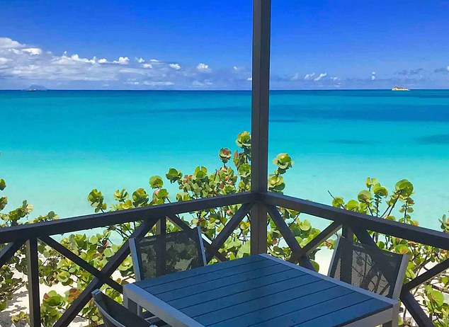 The view from Work Mango's $3,000-a-day Dickenson Bay property