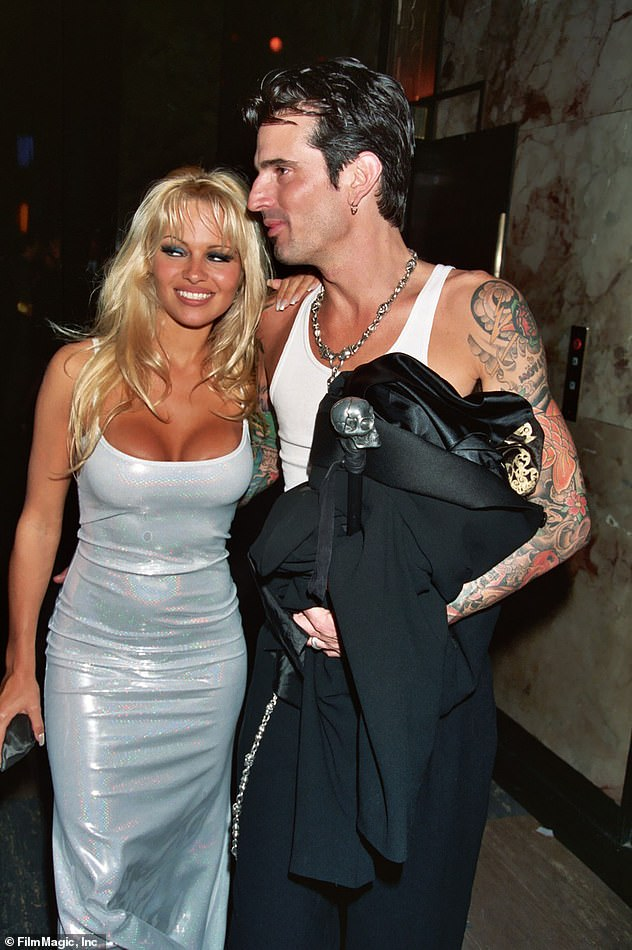 'Goals':On her stories, Kim shared a number of snaps featuring Pamela Anderson and Tommy Lee from the early days of their marriage in 1995; Pam and Tommy at the 1995 Grammy Awards in LA