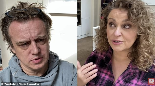'I was a target every time I went out': Nadia Sawalha has revealed she was sexually assaulted when she was just 10 years old (pictured with husband Mark Adderley)